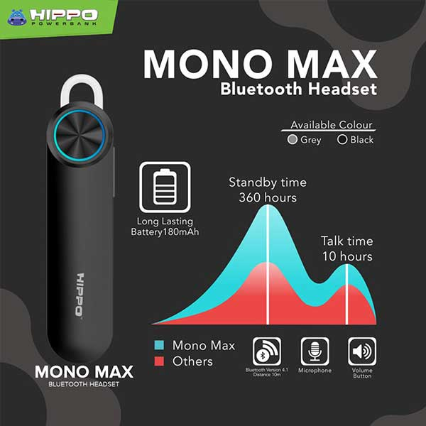 Mono Max Bluetooth Headset
