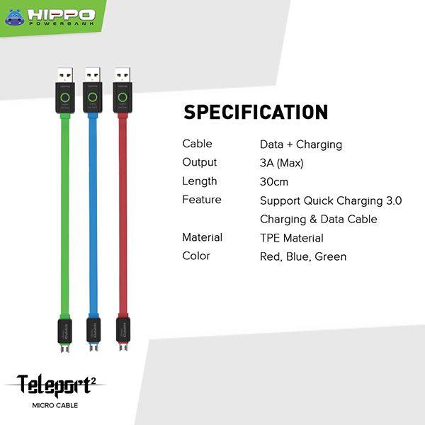 Teleport 2 microUSB 30cm