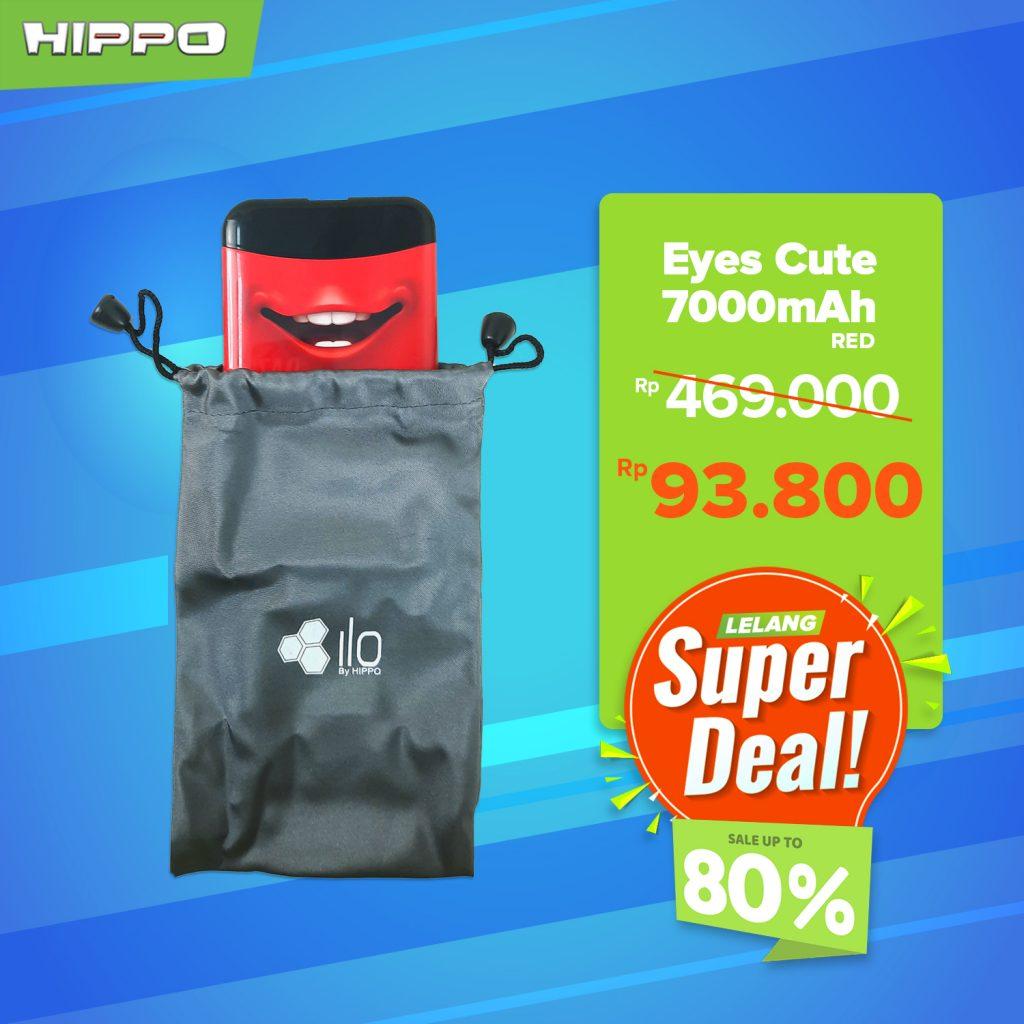 Hippo Powerbank Eyes Cute 70000mAh