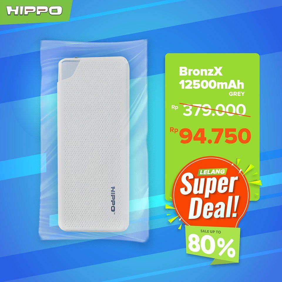 Hippo Powerbank Bronz X 12500mAh
