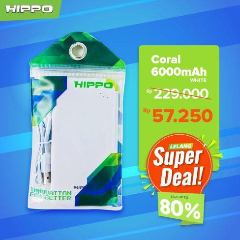 Hippo Powerbank Coral 6000mAh