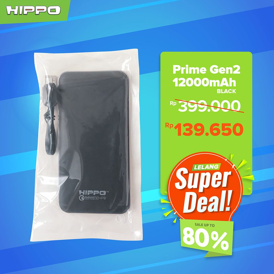 Hippo Elite Powerbank QC 3.0 + PD Prime 12000mAh